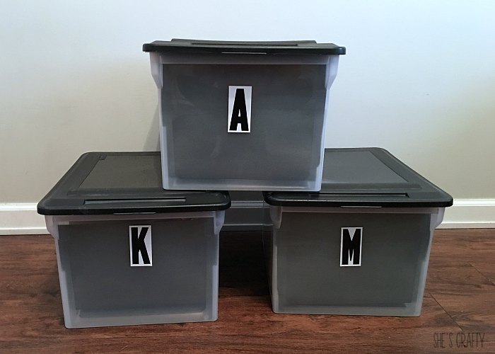 file boxes to hold school papers
