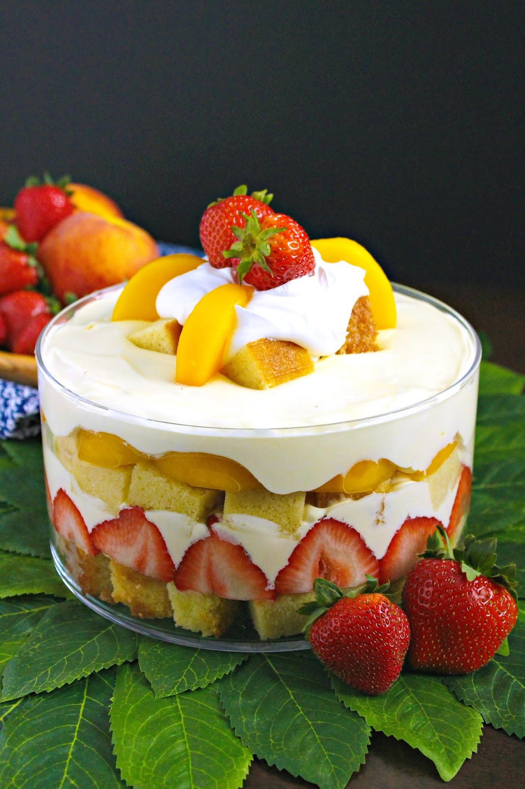 Love and Confections: Strawberry Peach Pound Cake Trifle