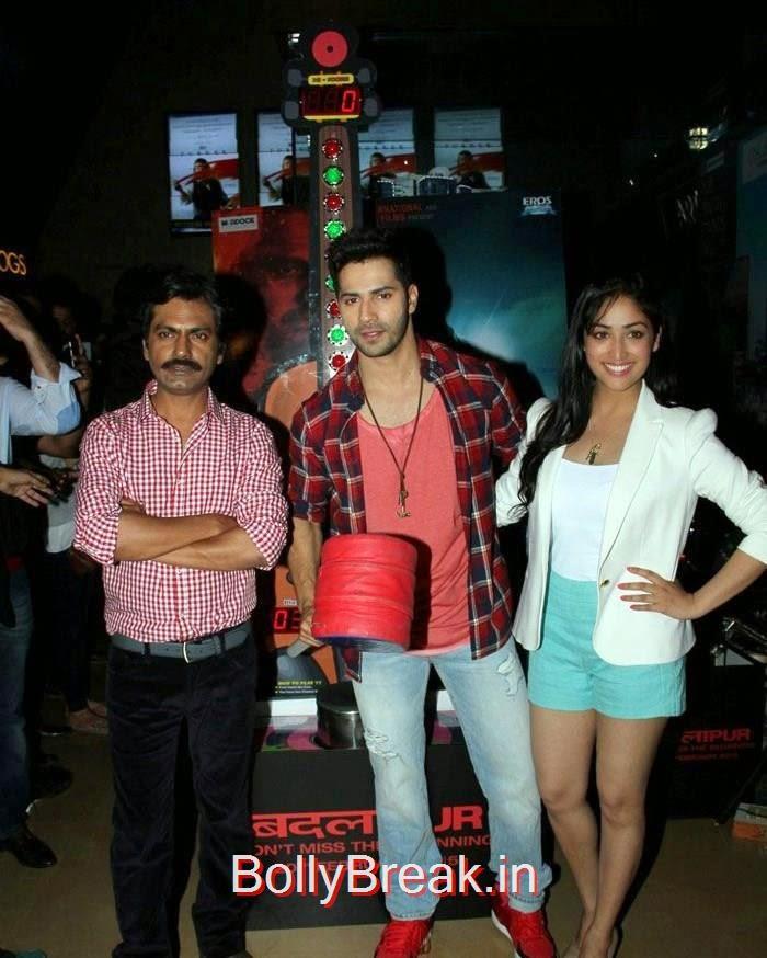 Varun Dhawan, Yaami Gautam & Nawazuddin Siddiqui Promote 'Badlapur', Yaami Gautam Hot Pics At Badlapur Promotions