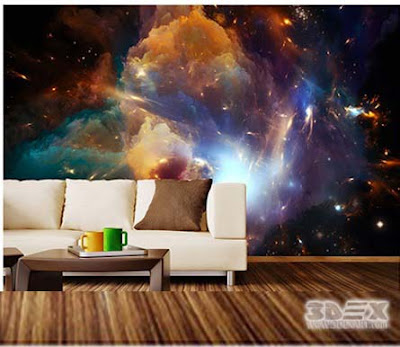 3D wallpaper for walls of modern living room designs