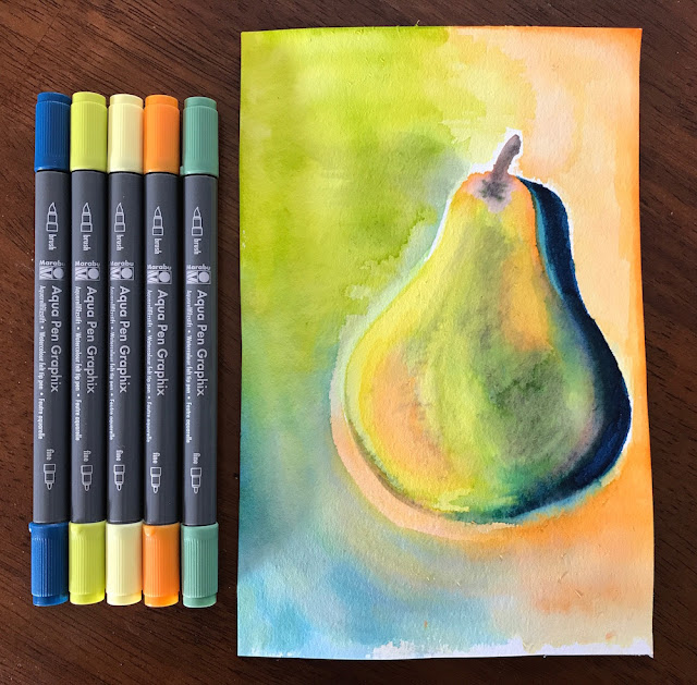 pear watercolor lisa fulmer