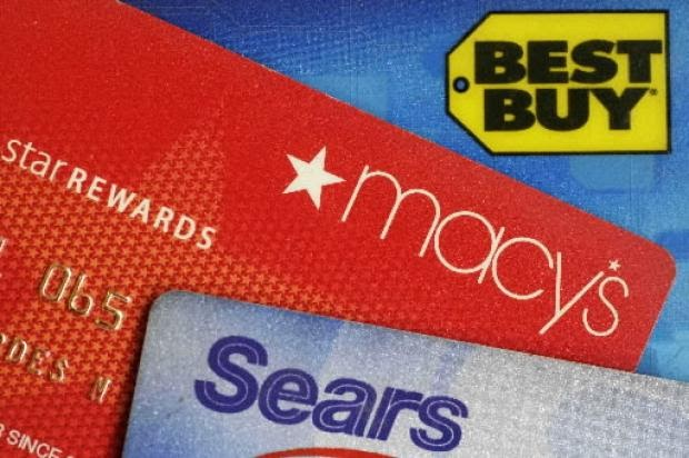 Clothing stores that offer credit cards