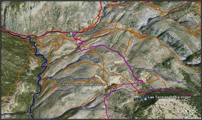 Zona entre Peralejos De Las Truchas y Las Terreras De La Virgen (generada con Google Earth)