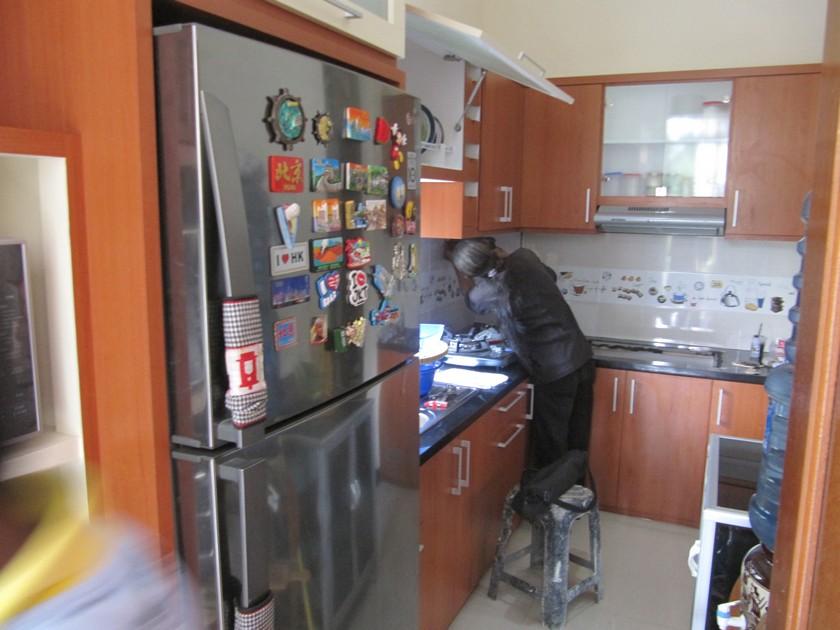 Lemari dapur kitchen set minibar interior dapur custom for Lemari kitchen