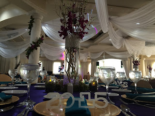 Graduation party draping ceiling decoration