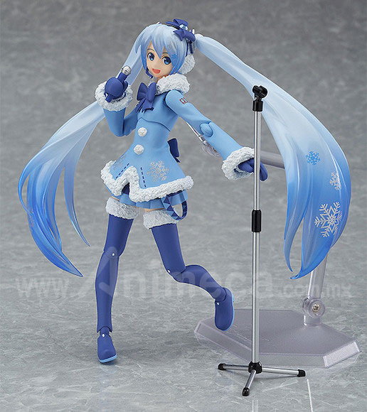 Figura Snow Miku Fluffy Coat Ver. figma Edición Limitada Hatsune Miku Vocaloid