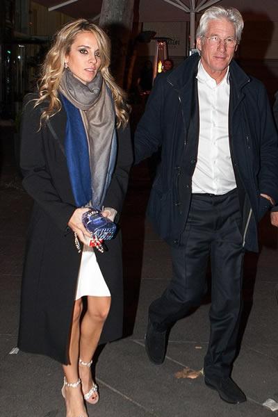 Richard Gere y su novia disfrutan noche en Madrid espana