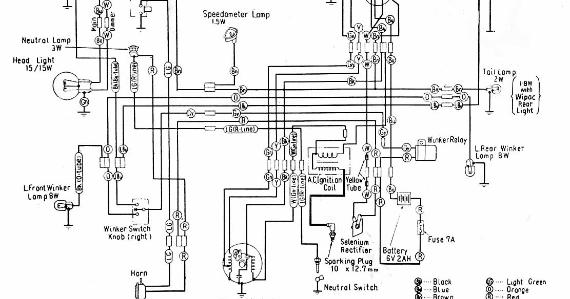 Car Wiring Diagrams: Honda C100 Wiring Diagrams