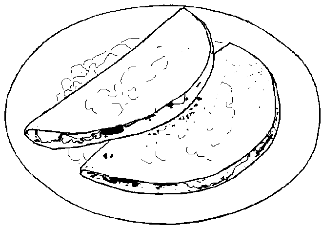 Dibujos comida mexicana para colorear