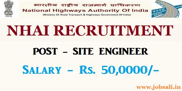 NHAI Engineer Recruitment 2017, Civil engineering jobs, Contract jobs