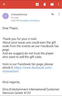 Cara Mendapatkan Gift Code Crisis Action [True Path]
