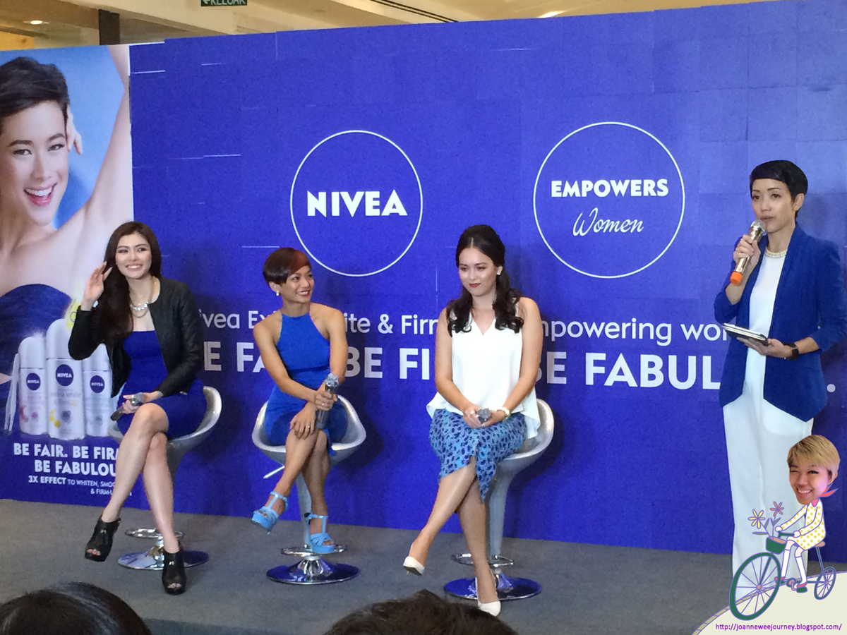 Event Nivea Extra White Firm Q10 Deodorant Joanne Wees Journey Whitening Roll On Female 25ml Sharing Of Their Experiences Using Products Secondly I Get A Chance To Meet Our Sweet Beautiful And Gorgeous 3 Celebrities Who Are They