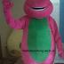 Gambar Kostum Badut Barney Karakter Lucu