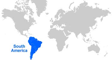 image: South America Map Location