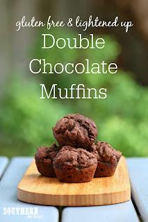 Healthy Gluten Free Double Chocolate Muffins Recipe