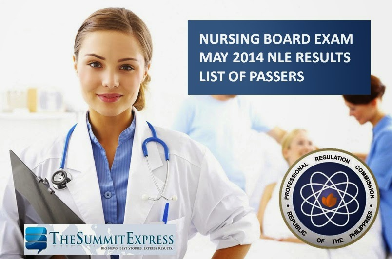 Nursing Board Exam results May 2014