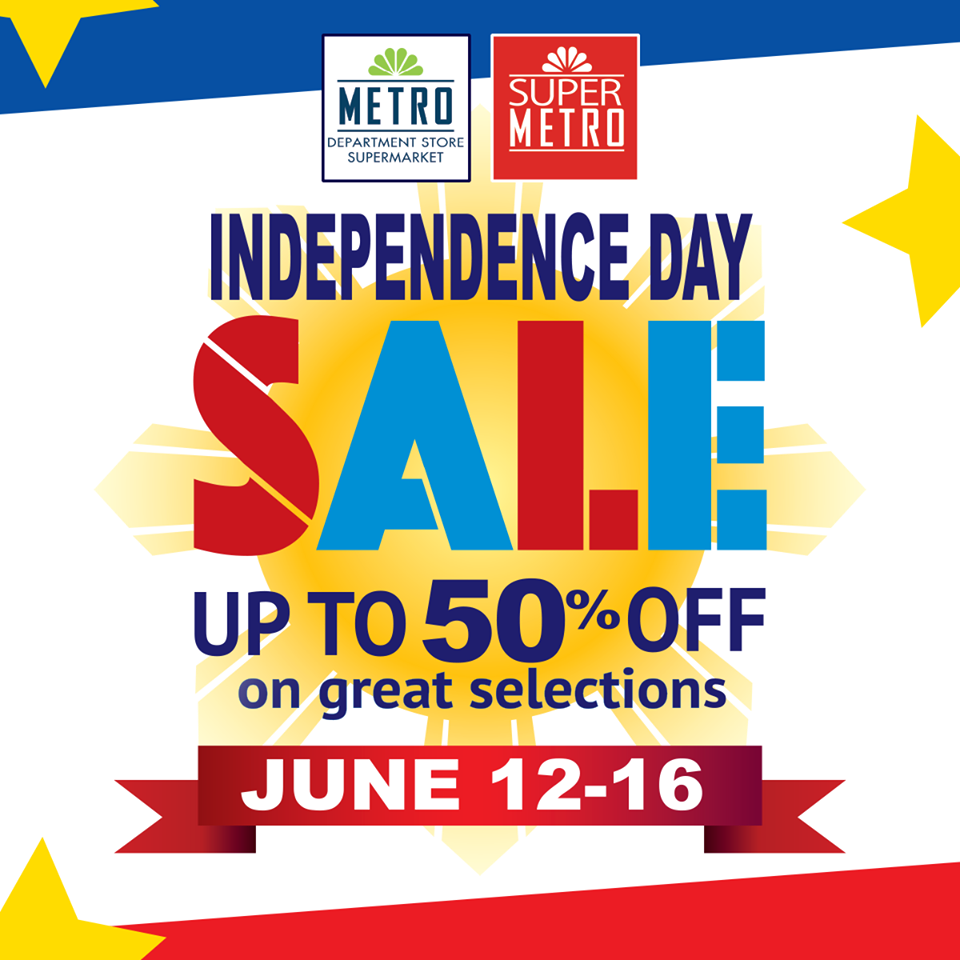 Manila Shopper Metro Stores Independence Day Sale 2015
