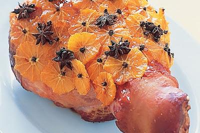 Orange glazed ham  meal ideas