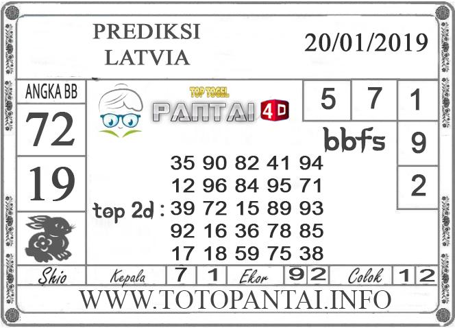 """Prediksi Togel """"LATVIA"""" PANTAI4D 20 JANUARI 2019"""