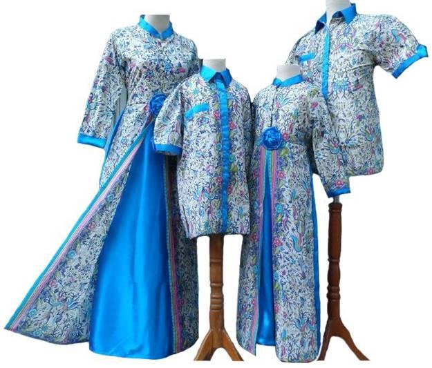 Model Baju Batik Terbaru Kerja Kombinasi Keluarga Muslim: 10 Model Baju Batik Muslim Sarimbit Keluarga Terbaru 2018