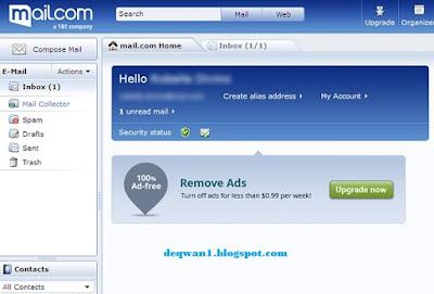 halaman email di mail com