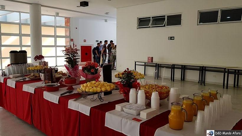 Café da manhã de boas-vindas no Encontro da RBBV em Curitiba