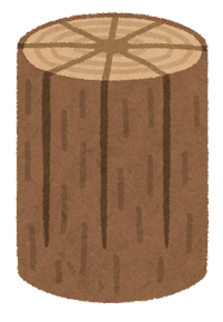 丸太ストーブのイラスト