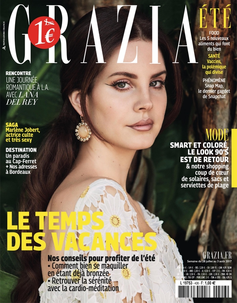 Lana Del Rey on Grazia France July 28th, 2017 Cover
