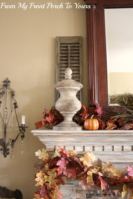 French -Country- Fall -Mantel-leaf-garland From My Front Porch To Yours
