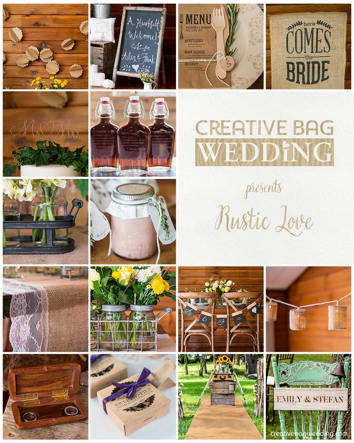 Rustic Love mood board | Creative Bag Wedding