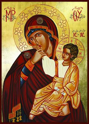 Mãe de Deus Odighitria (condutora) - Ícones para grupo de oração, seminário de vida no Espírito Santo e eventos