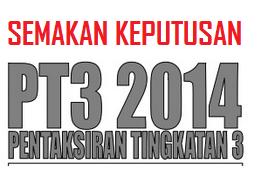 result Keputusan PT3 2014 Online Dan SMS