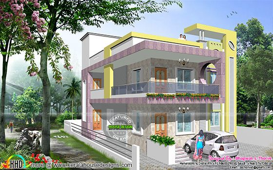 North Indian modern decorative home