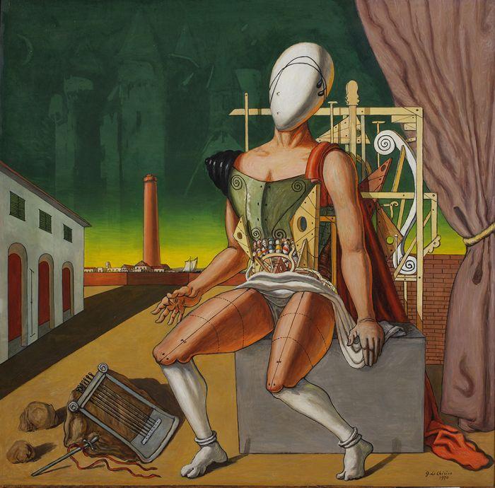 Орфей – уставший трубадур. 1970. Холст, масло. Фонд Джорджо и Изы де Кирико, Рим