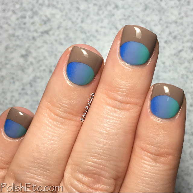 Gradient Half Moons for the #31DC2016Weekly - McPolish - P2 Volume Gloss