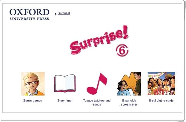 Surprise! Inglés de 6º Nivel de Educación Primaria. Editorial Oxford.