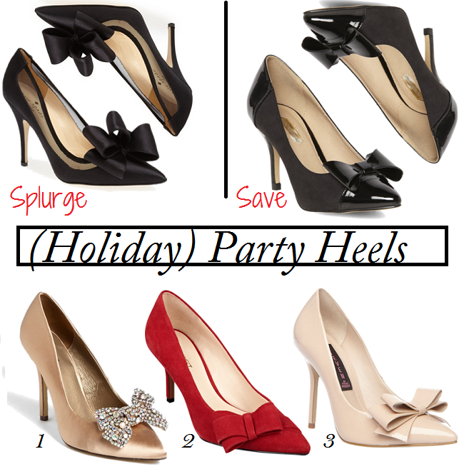 KAte Spade Bow Pumps Lookalike, Kate Spade Lovely Pumps, Bow Pumps, Bow Heels, Holiday Party Heels, What Shoes To Wear For Holiday Party