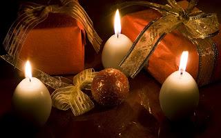 Decoraciones con velas de navidad