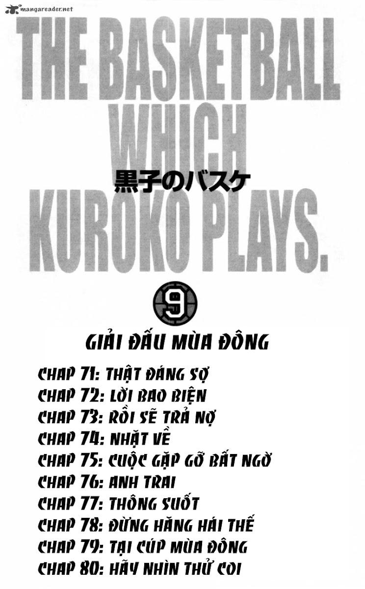 Kuroko No Basket chap 071 trang 6