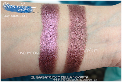 JUNO MOON -  Eyeshedow ombretti Swatches, Comparazione  - MERMAID COLLECTION - NABLA COSMETICS