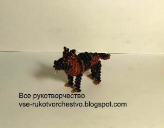 собака из бисера