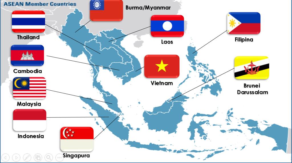 Peje Elementary School Site Asean Peta Wilayah Anggota Gambar