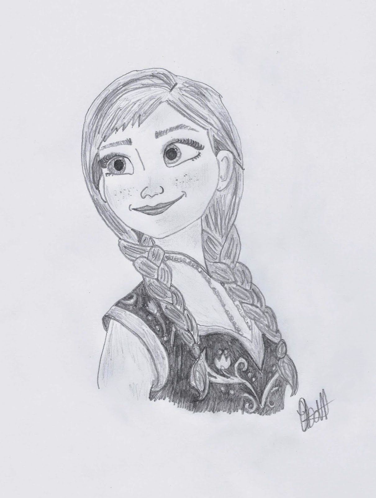 Anna for Frozen sketch by Jo Linsdell, Disney illustration study