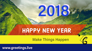 Mountain background Happy New year in English Language