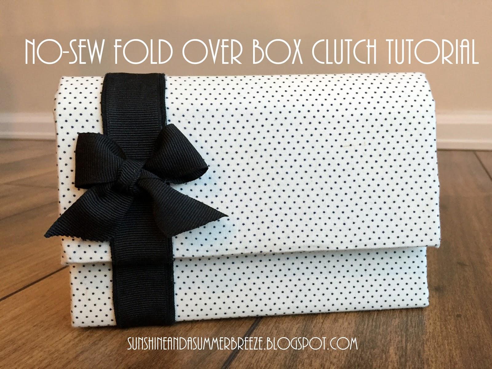 No Sew Fold Over Box Clutch Tutorial
