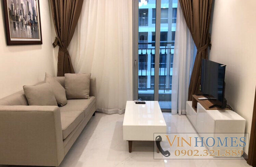 Cho thuê căn hộ cao cấp 1PN Vinhomes Central Park tầng cao L5 - hinh 3