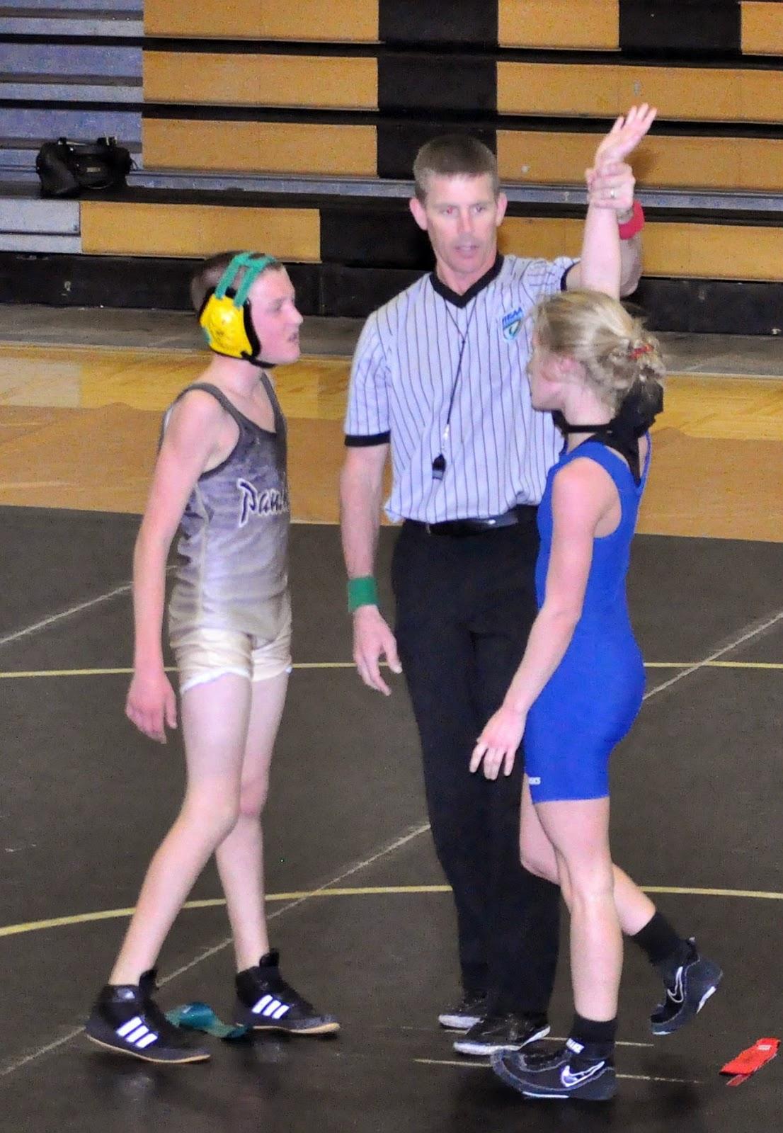 Men Wrestling Women She Pins Him-6694