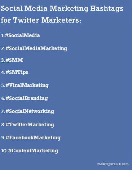 Image View: Top 10 Social Media Marketing Hashtags for Twitter Marketers