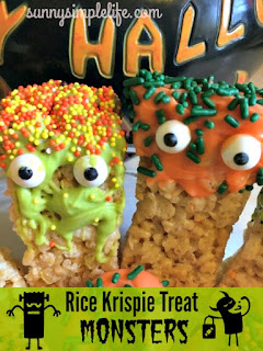 rice krispie treat monsters