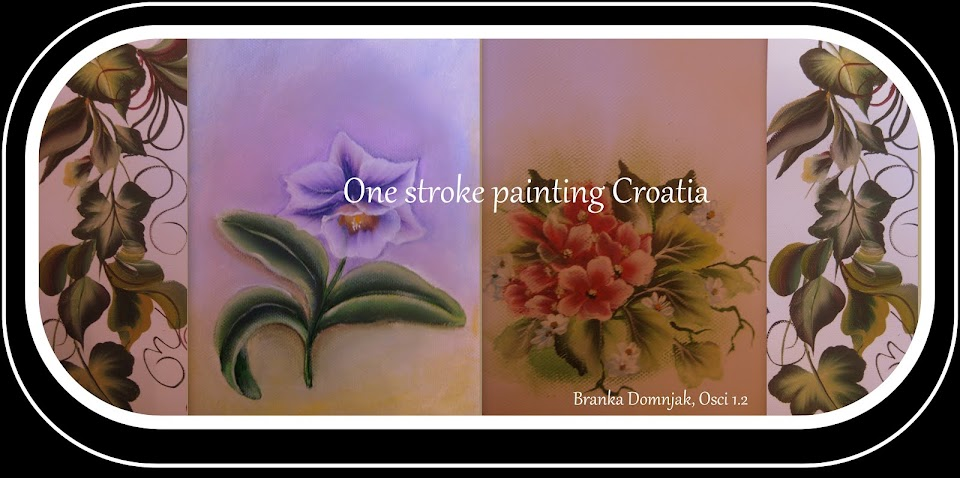 One stroke painting CROATIA